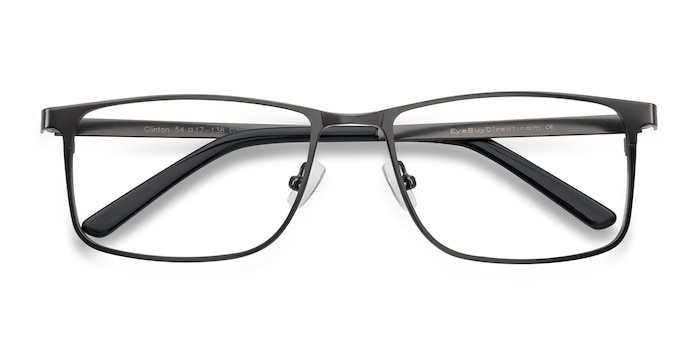 Gunmetal Clinton -  Metal Eyeglasses