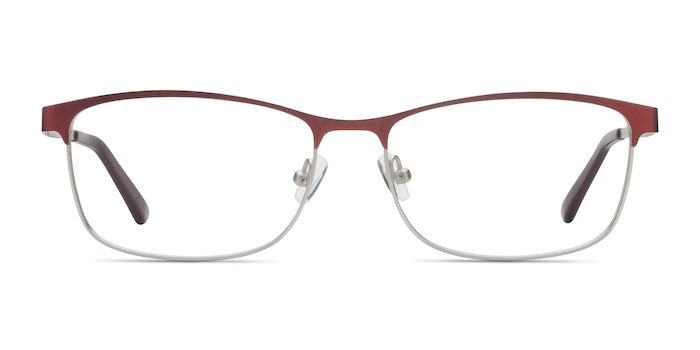 Ashlyn Red Metal Eyeglass Frames from EyeBuyDirect