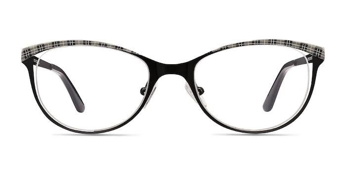 Deco Black Gray Métal Montures de Lunette de vue d'EyeBuyDirect