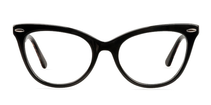 Anika Black Acetate Eyeglass Frames from EyeBuyDirect