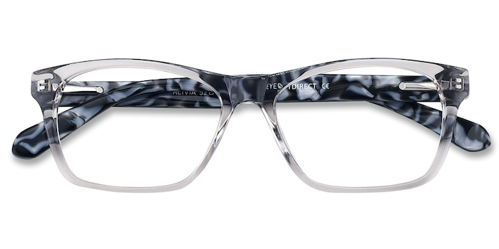 Gray/Clear Alivia -  Acetate Eyeglasses