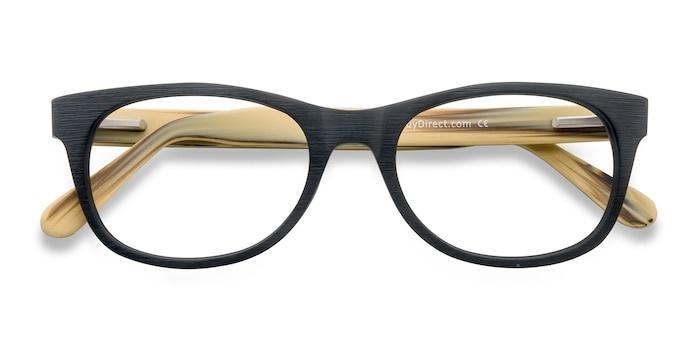 Black Panama -  Fashion Wood Texture Eyeglasses