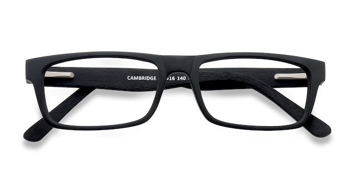 Black Cambridge -  Acetate Eyeglasses