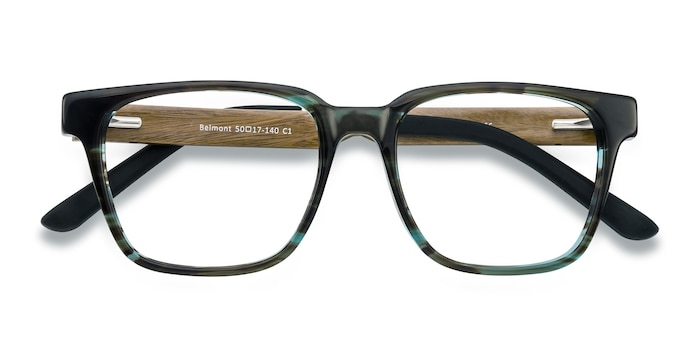 Coffee Belmont -  Fashion Wood Texture Eyeglasses