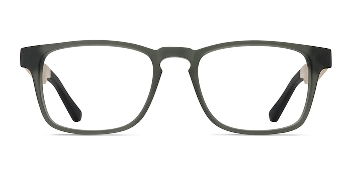 Lincoln Gray Wood-texture Eyeglass Frames from EyeBuyDirect