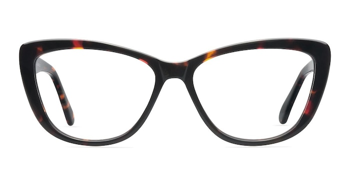 Charlotte Tortoise Acetate Eyeglass Frames from EyeBuyDirect