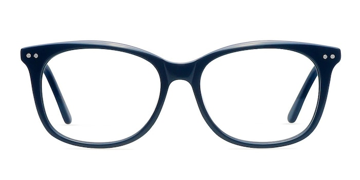 Brittany Navy Acetate Eyeglass Frames from EyeBuyDirect