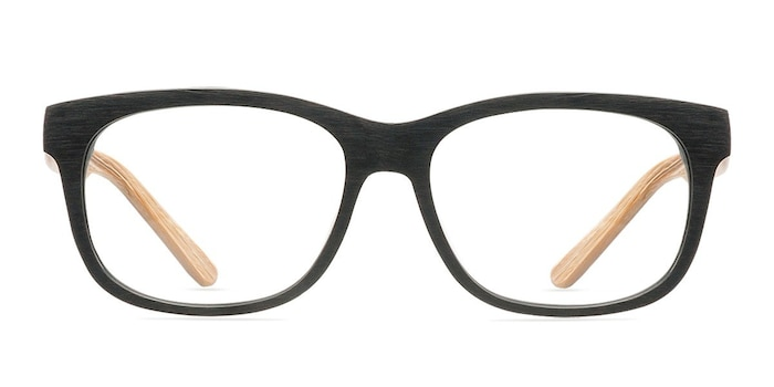 White Pine Black Acetate Eyeglass Frames from EyeBuyDirect