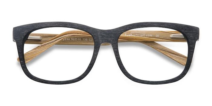 Noir White Pine -  Geek Acétate Lunettes de Vue