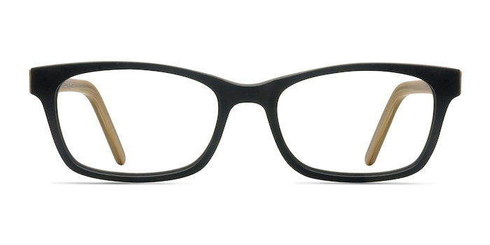 Mesquite  Black/Yellow Acetate Eyeglass Frames from EyeBuyDirect