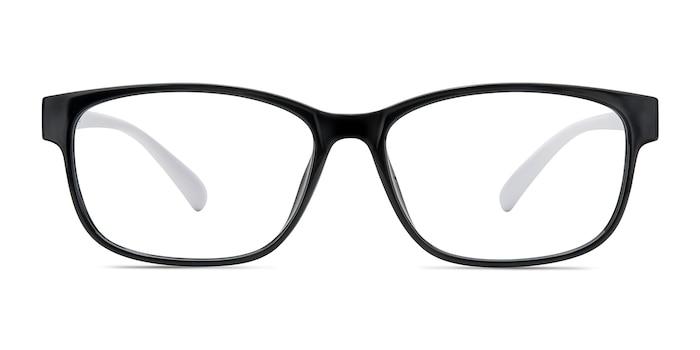 Robbie Black/White Plastic Eyeglass Frames from EyeBuyDirect