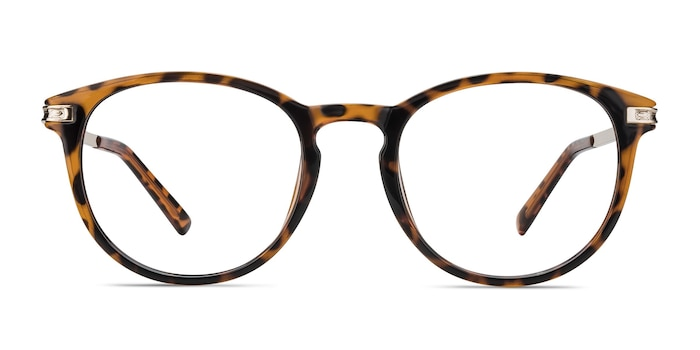 Daphne Brown/Tortoise Plastic-metal Eyeglass Frames from EyeBuyDirect