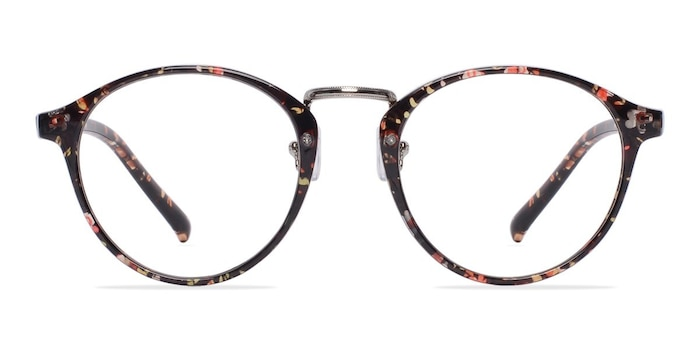 Chillax Red/Floral Plastic Eyeglass Frames from EyeBuyDirect