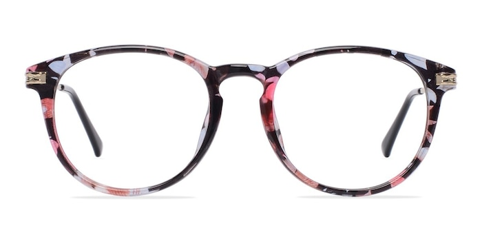 Muse Blue Floral Plastic-metal Eyeglass Frames from EyeBuyDirect