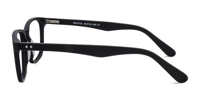 Bristol Matte Black Acétate Montures de Lunette de vue d'EyeBuyDirect
