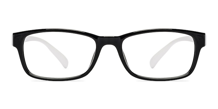 Danny  Black/White  Plastic Eyeglass Frames from EyeBuyDirect