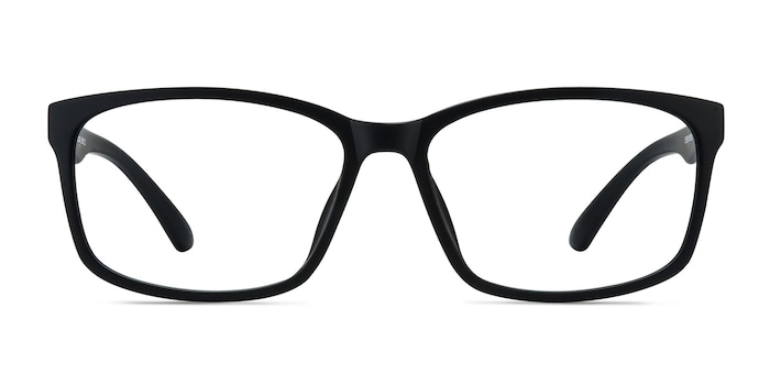Boston Matte Black Plastic Eyeglass Frames from EyeBuyDirect