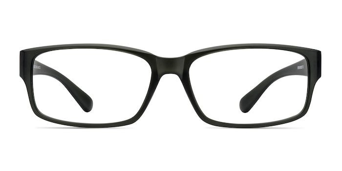 Apollo Matte Gray Plastic Eyeglass Frames from EyeBuyDirect