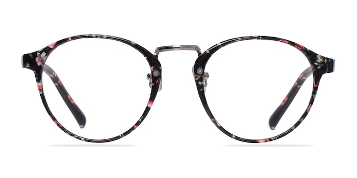 Small Chillax Red/Floral Plastic Eyeglass Frames from EyeBuyDirect