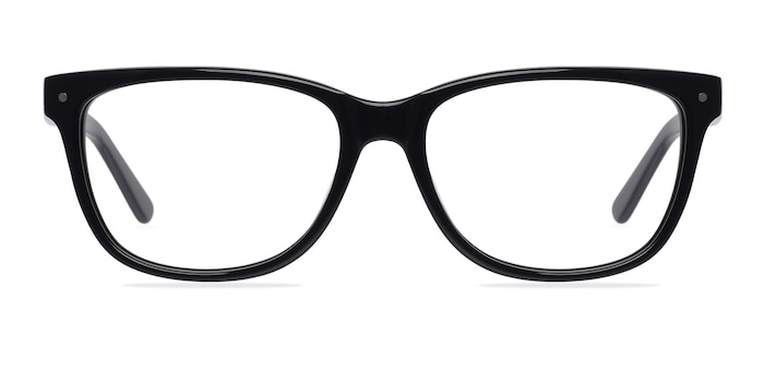 Allure Black Acetate Eyeglass Frames from EyeBuyDirect