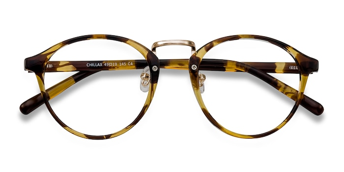 Tortoise Chillax -  Fashion Metal Eyeglasses