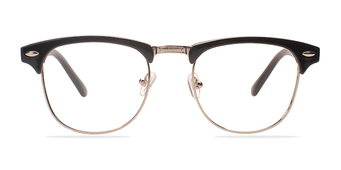Coexist Black/Silver Plastic-metal Montures de Lunette de vue d'EyeBuyDirect