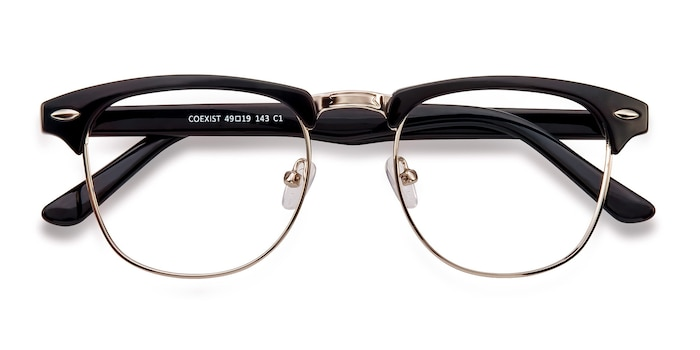 Black/Silver Coexist -  Classic Metal Eyeglasses
