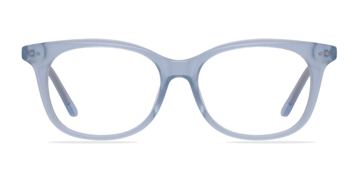 Brittany Clear Blue Acetate Eyeglass Frames from EyeBuyDirect
