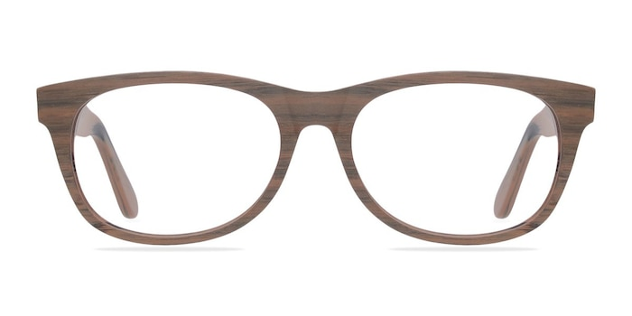 Panama Brown/Striped Acetate Eyeglass Frames from EyeBuyDirect