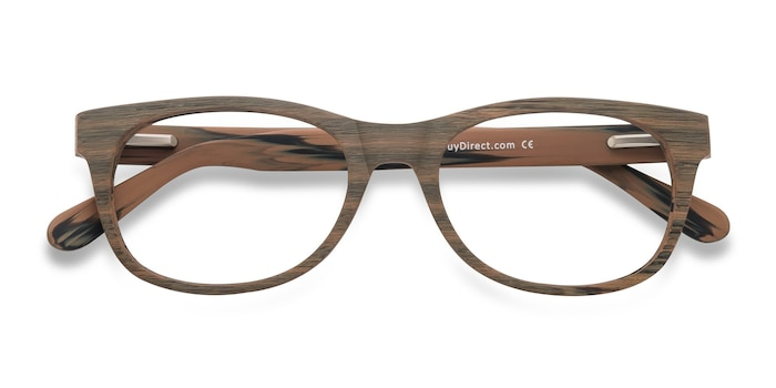 Brown/Striped Panama -  Acetate Eyeglasses