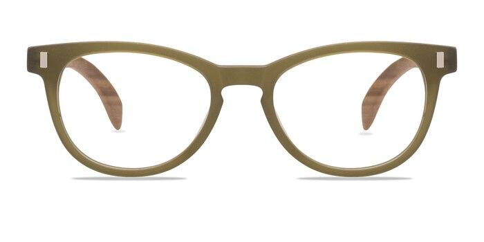 Sahara Matte Green Wood-texture Eyeglass Frames from EyeBuyDirect