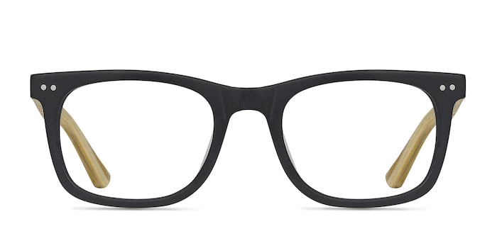 Montreal Matte Black Acetate Eyeglass Frames from EyeBuyDirect