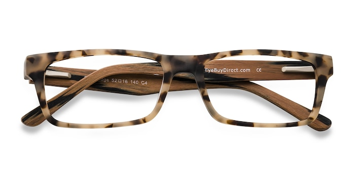 Matte Tortoise Cambridge -  Wood Texture Eyeglasses