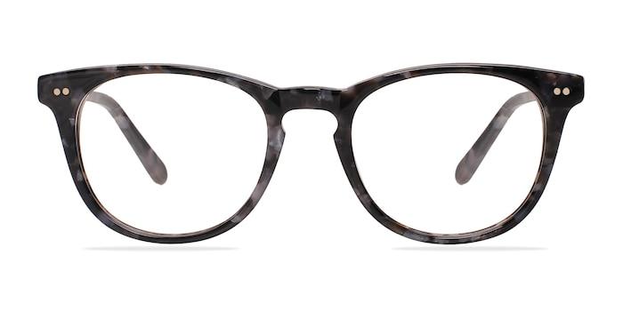Flume Gray/Floral Acetate Eyeglass Frames from EyeBuyDirect