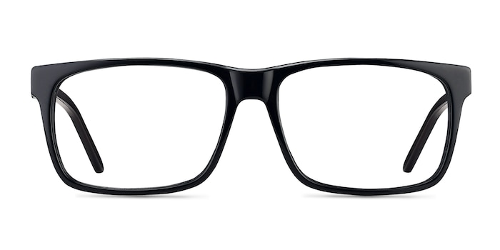 Sydney Black Acetate Eyeglass Frames from EyeBuyDirect