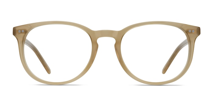 Aura Matte Champagne Acetate Eyeglass Frames from EyeBuyDirect