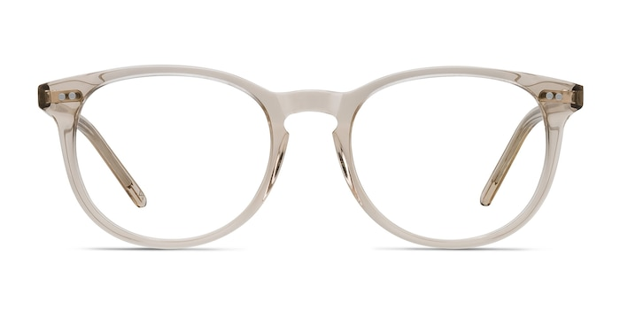 Aura Champagne Acetate Eyeglass Frames from EyeBuyDirect