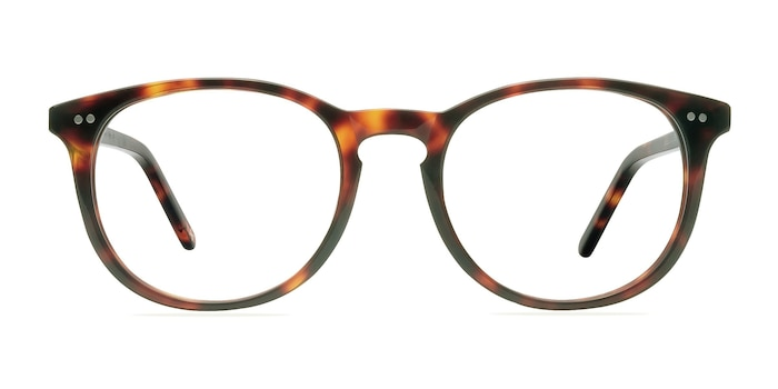 Aura Warm Tortoise Acetate Eyeglass Frames from EyeBuyDirect