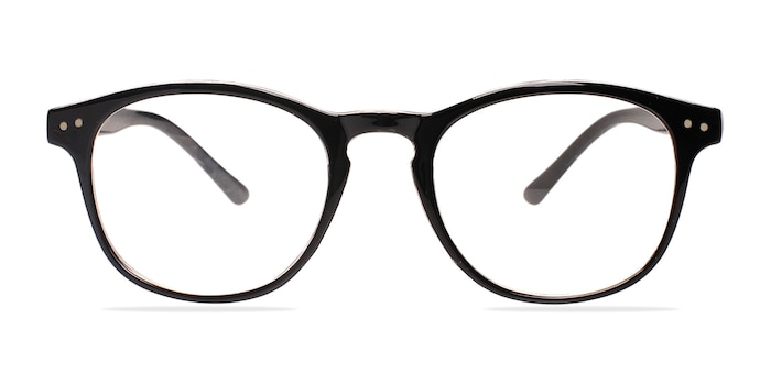 Instant Crush Clear/Black Plastic Eyeglass Frames from EyeBuyDirect