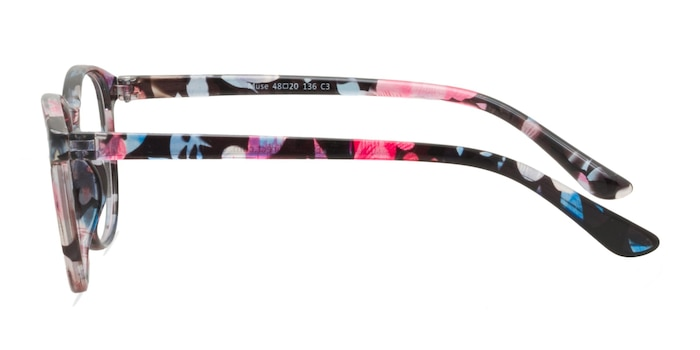 Muse Pink Floral Plastic Eyeglass Frames from EyeBuyDirect