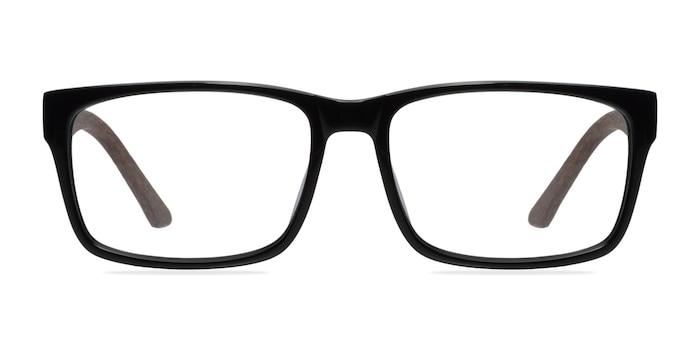 Lexington Black/brown Acétate Montures de Lunette de vue d'EyeBuyDirect