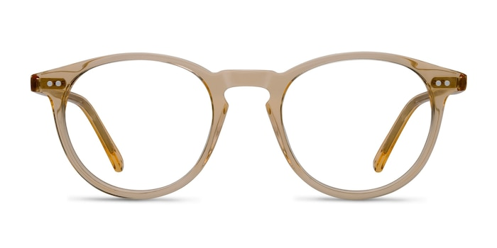 Kyoto  Clear Yellow  Acetate Eyeglass Frames from EyeBuyDirect