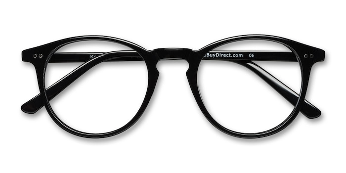 Black  Kyoto -  Geek Acetate Eyeglasses