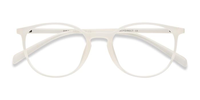 Transparent/Blanc Dinah -  Classique Plastique Lunettes de Vue