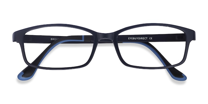 Navy Broad -  Lightweight Plastic Eyeglasses