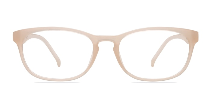 Drums Frosted White Plastic Eyeglass Frames from EyeBuyDirect