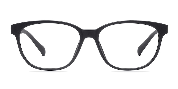 Moody Matte Black Plastic Eyeglass Frames from EyeBuyDirect