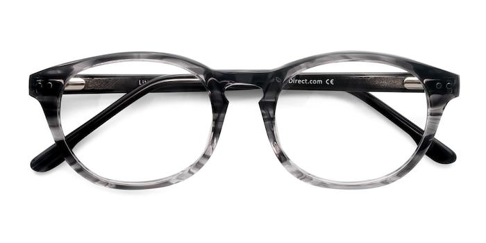 Gray Striped Little Things -  Fashion Acetate Eyeglasses