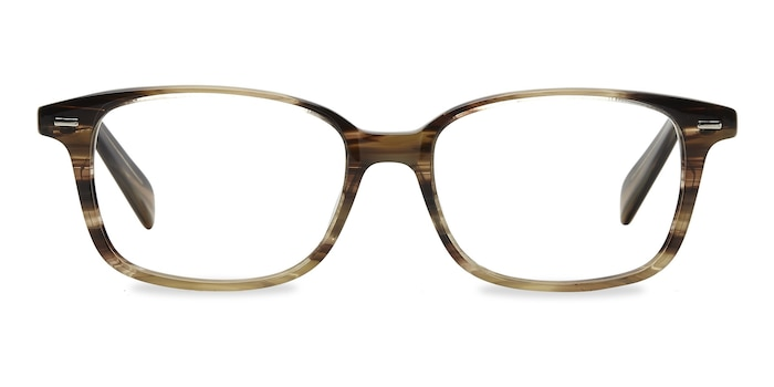 Sway Brown Striped Acetate Eyeglass Frames from EyeBuyDirect
