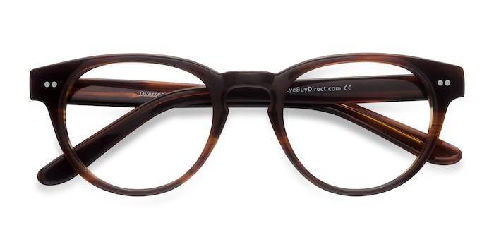 Brown Striped  Oversea -  Acétate Lunettes de Vue